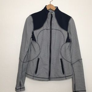 Lululemon navy white gingham size 8 zip jacket